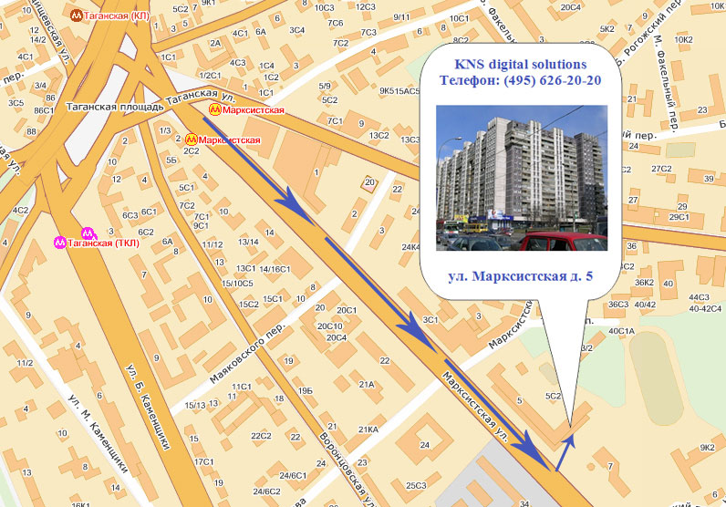 Схема движения автотранспорта по таганской площади